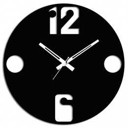12 To 6 Black Wall Clock