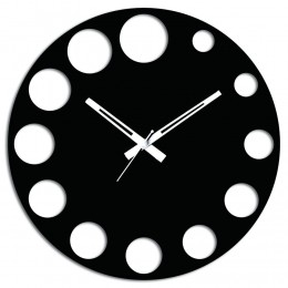 Black Wall Clock for Decor