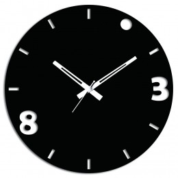 3 N 8 Black Wall Clock