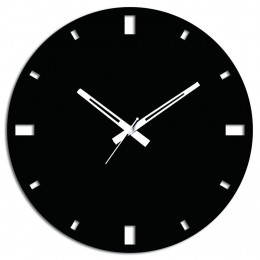 Simple Black Wooden Wall Clock