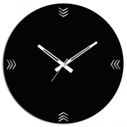 Wooden Wall Clock In Black