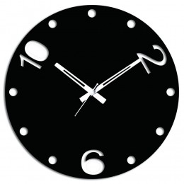 Black Wall Clock For Home Decor