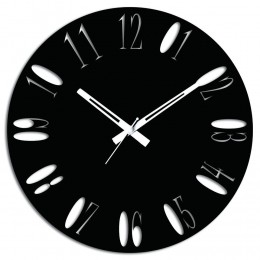 Black Wooden Wall Clock For Home Decor