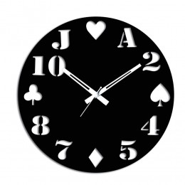 Cards Special Black Wall Clock