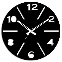 Unique Black Wall Clock