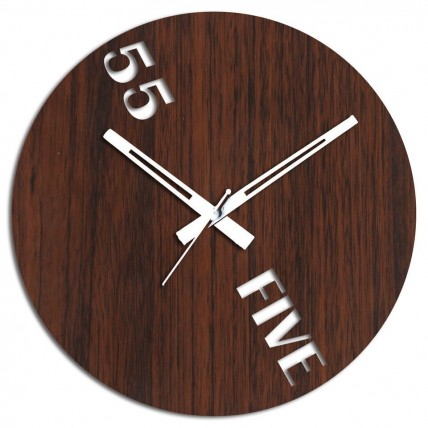 55 Brown Wall Clock