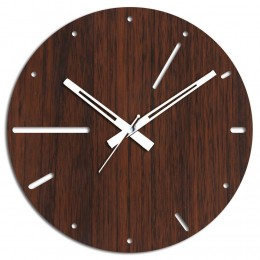 Brown N White Wooden Wall Clock