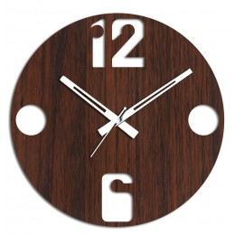 12 To 6 Brown Wall Clock
