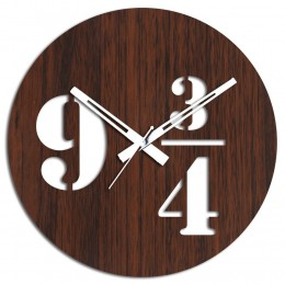 9 3 4 Brown Wall Clock