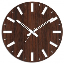 Wooden Brown Wall Clock