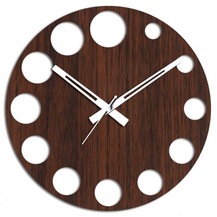 Brown Wall Clock for Decor