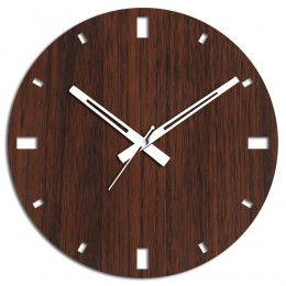 Simple Brown Wooden Wall Clock