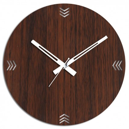 Wooden Wall Clock In Brown