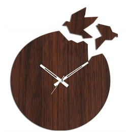 Flying Birds Brown Wall Clock