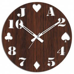 Cards Special Brown Wall Clock