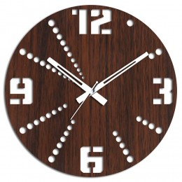 Modish Brown Round Wall Clock
