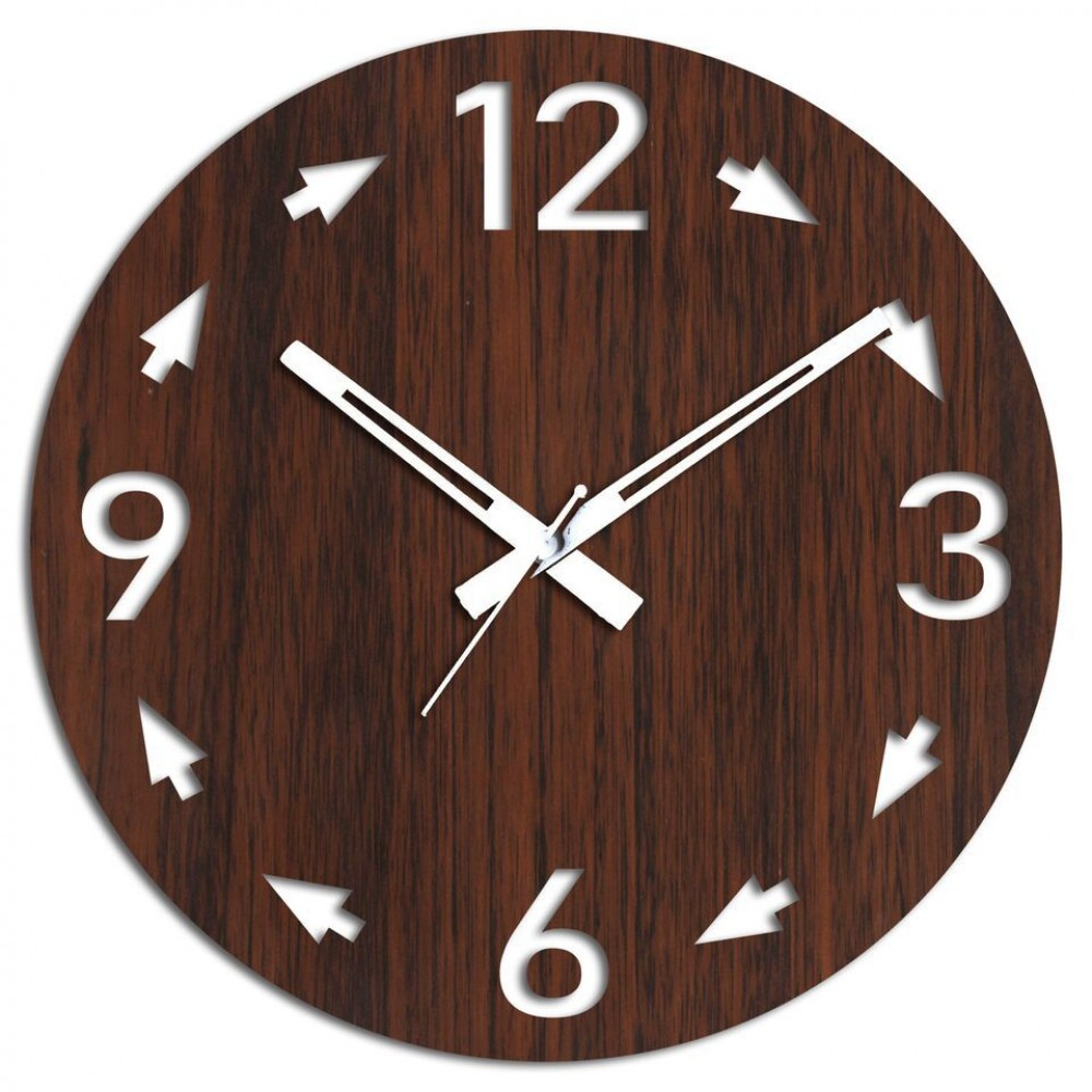 Send Arrow Special Brown Wall Clock Online From Bookmyflowers