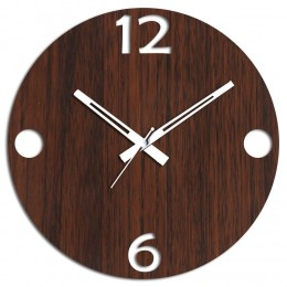 Unique Study Room Brown Wall Clock