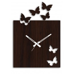 Rectangular Butterfly Wall Clock