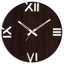 Roman Brown Wall Clock