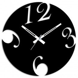 Black Wooden Wall Clock