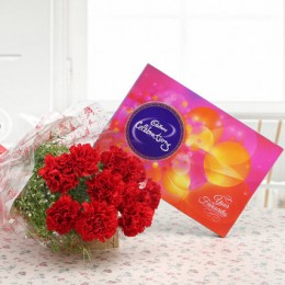 Red Carnations And Cadbury Celebrations