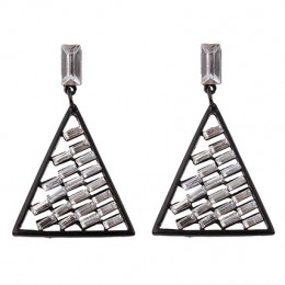 Zinc Alloy Black Drop Earrings