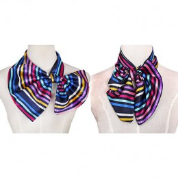 Multicolor Stripes Imitation Silk Scarf
