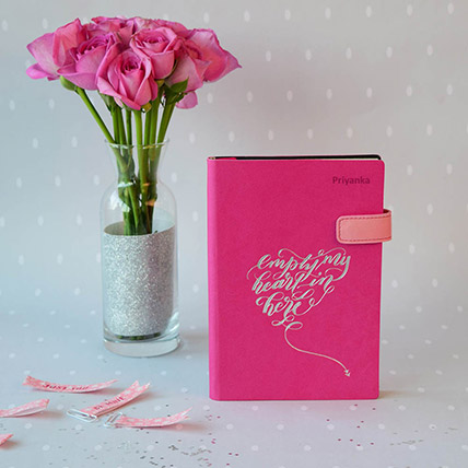Doodle Love Notes Personalized Diary