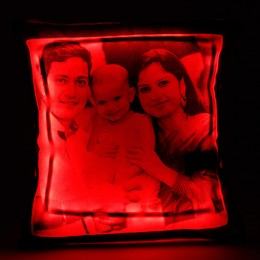 Personalized LED Cushion Red
