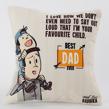 Best Dad Ever Personalized Cushion