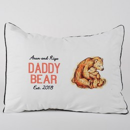 Daddy Bear Personalized Pillow