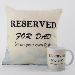 Reserved For Dad Mug And Cushion Combo