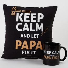Expert Papa Mug And Cushion Combo
