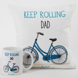 Confient Dad Mug And Cushion Combo