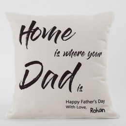 Happy Fathers Day Personalized Cushion