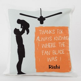 Personalized Cushion For Caring Dad