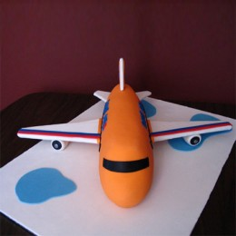 Bright Airplane Cake 2kg