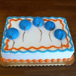 Blue Flying Balloon Cake half kg