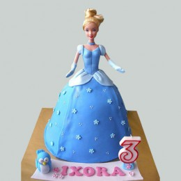 Blue Fondant Barbie Cake 2kg