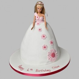 Pristine White Barbie Cake 2kg