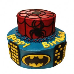 Dual Batman Spiderman Cake 3kg
