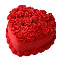 Hot Red Valentine Heart Cake 1kg Vanilla