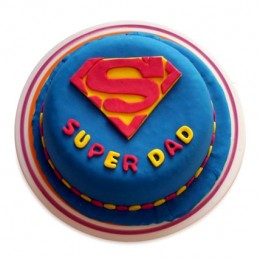 Super Dad Designer Cake