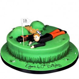 Stunning Golf Course Cake