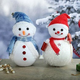 Lovable Christmas Snowmen Duo