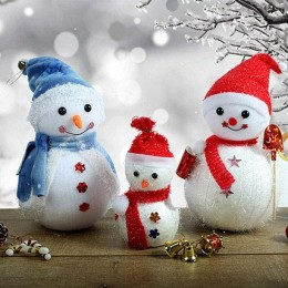 Appealing Christmas Snowmen Trio