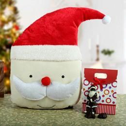 Santa Cushion N Chocolate Combo