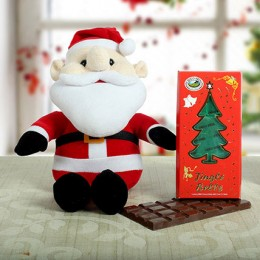 Chocolate N Adorable Santa Combo