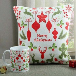 Lovely Cushion N Mug Combo